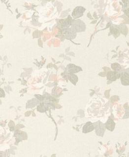 Casa Padrino Barock Textiltapete Beige / Grau / Weiß / Rosa 10, 05 x 0, 53 m - Tapete mit Blumenmuster