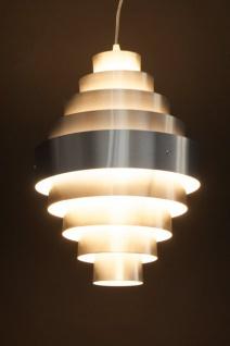 Casa Padrino Designer Pendelleuchte aus gebürstetem Aluminium, Silber - Leuchte Lampe - Vorschau 3