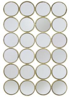 Casa Padrino Luxus Edelstahl Wandspiegel Gold 80 x H. 120 cm - Designer Spiegel - Luxus Kollektion
