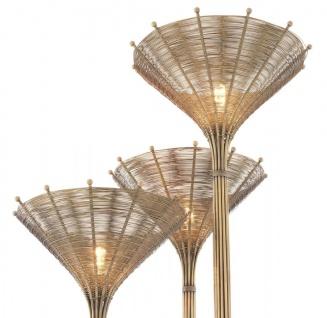 Casa Padrino Luxus Stehleuchte Vintage Messingfarben 70 x 70 x H. 197 cm - Hotel & Restaurant Stehlampe - Vorschau 4