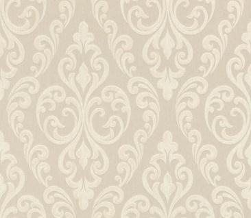 Casa Padrino Barock Textiltapete Creme / Beige 10, 05 x 0, 53 m - Hochwertige Wohnzimmer Tapete