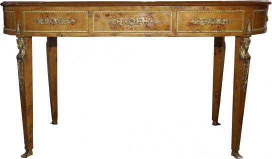 Casa Padrino Luxus Barock Empire Schreibtisch Sekretär 3 Schubladen 150 cm - Handgefertigt aus Massivholz - Barock Schreibtisch Büro Möbel - Vorschau 5