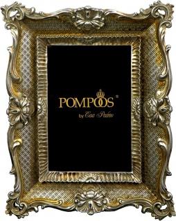 Pompöös by Casa Padrino Barock Bilderrahmen Antik Stil Silber von Harald Glööckler 24.5 x 19 cm - Foto Rahmen