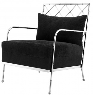 Casa Padrino Luxus Sessel Silber 64, 5 x 71, 5 x H. 83 cm - Limited Edition