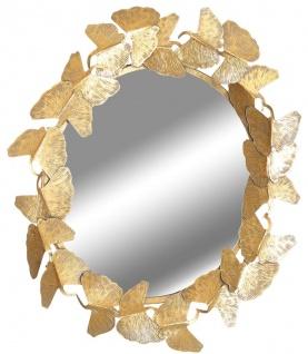 Casa Padrino Designer Spiegel Gold Ø 83 cm - Moderner pulverbeschichteter Metall Wandspiegel - Deko Accessoires