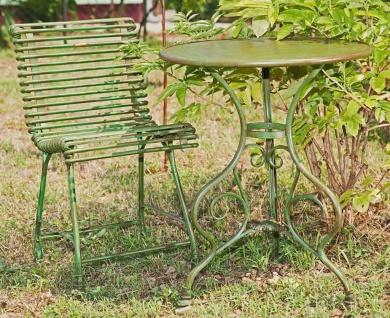 Casa Padrino Jugendstil Gartentisch & Gartenstuhl - verschiedene Farben - Gartenmöbel Set im Jugendstil