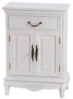 Casa Padrino Landhausstil Kommode Antik Weiß 53 x 30 x H. 75 cm - Shabby Chic Möbel