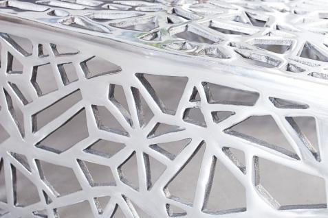 Casa Padrino Art Deco Couchtisch Silber Metall 75 x 35 cm- Jugendstil Tisch - Möbel Wohnzimmer - Vorschau 5