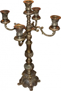Casa Padrino Luxus Kerzenständer Antik Messing Vintage Look H 92 cm, B 56 cm - Kerzenhalter