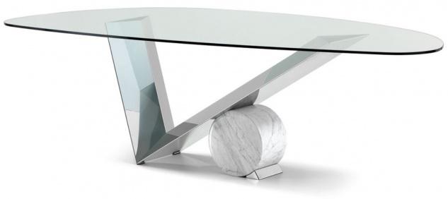 Casa Padrino Designer Esstisch Silber / Weiß 240 x 115 x H. 75 cm - Esszimmertisch mit Glasplatte - Moderne Esszimmer Möbel - Luxus Kollektion