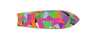 Skatera Skateboard Longboard by Jet Stardust PaperCut Cruiser Deck 8.5 x 29.5