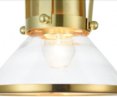 Casa Padrino Luxus Pendelleuchte / Hängeleuchte Messingfarben Ø 18, 5 x H. 23 cm - Leuchten & Lüster - Vorschau 4