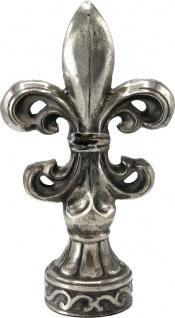 Casa Padrino Barock Figur Lilie Aluminium Silber - Briefbeschwerer - Skulptur Barock Stil