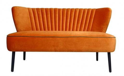 Casa Padrino Luxus Wohnzimmer Sofa Orange 129 x 75 x H. 73, 5 cm - Designer Möbel