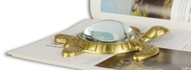Casa Padrino Luxus Lupe Schildkröte Gold 15, 5 x 14, 9 cm - Luxus Accessoires - Vorschau 2