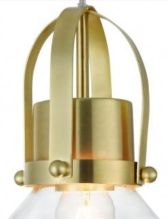 Casa Padrino Luxus Pendelleuchte / Hängeleuchte Messingfarben Ø 18, 5 x H. 23 cm - Leuchten & Lüster - Vorschau 3