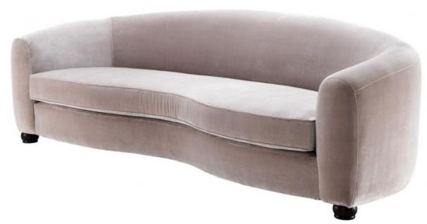 Casa Padrino Designer Luxus Sofa Hellgrau - Luxus Qualität