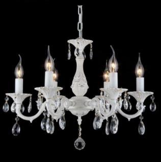 Casa Padrino Barock Decken Kristall Kronleuchter Creme Gold 56 x H 45 cm Antik Stil - Möbel Lüster Leuchter Hängeleuchte Hängelampe