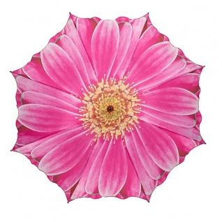 MySchirm Designer Regenschirm mit Blumenmotiv in kräftigem pink - Eleganter Stockschirm - Luxus Design - Automatikschirm - Vorschau 2