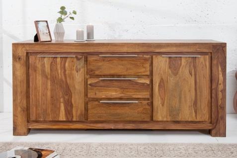 Casa Padrino Luxus Sideboard B.175 x H.80 x T.50 - Fernsehschrank - Kommode - Handgefertigt aus Massivholz!