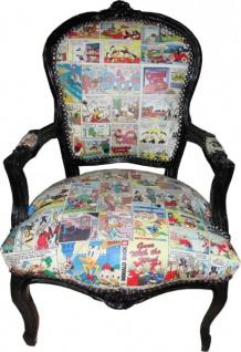 Casa Padrino Barock Salon Stuhl Comic Mod2 - Limited Edition