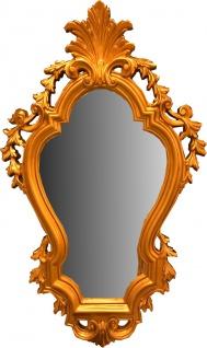Casa Padrino Barock Wandspiegel Gold 74 x H. 118 cm - Prunkvoller Antik Stil Spiegel - Möbel im Barockstil