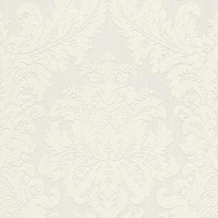 Casa Padrino Barock Textiltapete Weiß 10, 05 x 0, 53 m - Luxus Wohnzimmer Tapete