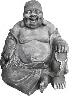 Casa Padrino Luxus Deko Skulptur Buddha Dunkelgrau 65 x 55 x H. 60 cm - Limited Edition - Vorschau 2