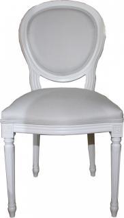 Casa Padrino Luxus Barock Esszimmer Stuhl Weiß / Weiß - Luxus Qualität