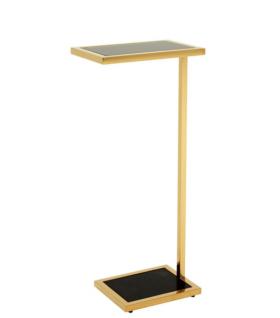 Casa Padrino Luxus Art Deco Designer Beistelltisch Gold 31 x 20 x H. 72 cm - Hotel Möbel