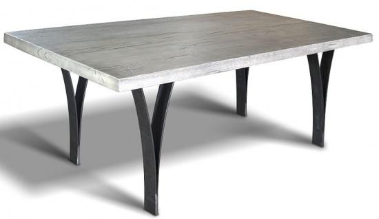 Casa Padrino Luxus Esstisch - Verschiedene Farben & Größen - Küchentisch mit massiver Eichenholz Tischplatte und Metallbeinen - Rustikale Esszimmer Möbel