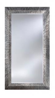Casa Padrino Luxus Spiegel in silber mit dunkelgrauer Patina 105 x H. 192 cm - Designermöbel