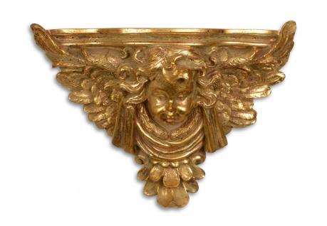 Casa Padrino Barock Wandkonsole mit Engel Antik Gold 38, 5 x 15, 8 x H.28, 4 - Hotel Möbel