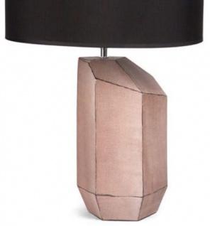 Casa Padrino Luxus Keramik Tischleuchte Rosa / Schwarz Ø 39 x H. 60 cm - Wohnzimmer Deko & Accessoires - Vorschau 2