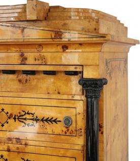 Casa Padrino Art Deco Schubladen Schrank Vogelaugenahorn - Handgefertigt - Biedermeier Möbel - Vorschau 2