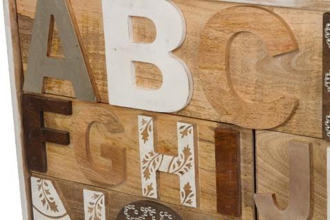 Casa Padrino Landhausstil Shabby Chic Kommode mit 12 Schubladen Antik Weiß / Mehrfarbig 115 x 40 x H. 90 cm - Landhausstil Möbel - Vorschau 4