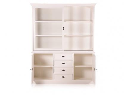 Casa Padrino Landhausstil Wandschrank Antik Weiß mit 2 Türen und 4 Schubladen 185 x 43 x H. 225 cm - Landhausstil Möbel - Vorschau 4