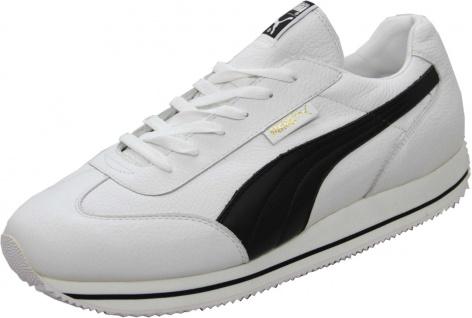 Puma Schuhe Street Cat Leather White / Black - Sneaker Sneaker Schuhe - Laufschuhe - Vorschau 1