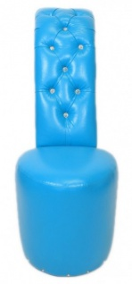 Casa Padrino High Heel Sessel mit Dekosteinen Hellblau Luxus Design - Designer Sessel - Club Möbel - Schuh Stuhl Sessel - Vorschau 3