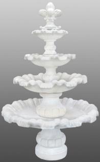 Casa Padrino Barock Gartenbrunnen mit kleiner Lilie Ø 130 x H. 200 cm - Prunkvoller Springbrunnen im Barockstil