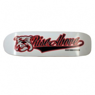 Rise Above Oldschool Skateboard Pool Deck Bulldog 9.1 inch
