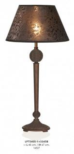 Casa Padrino Barock Tischleuchte Braun 45 x H 67 cm - Luxus Tisch Leuchte - Nostalgisch und prunkvoll