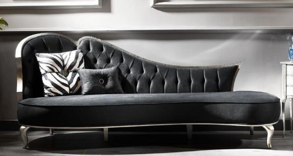 Casa Padrino Luxus Barock Sofa Grau / Antik Silber - Handgefertigtes Wohnzimmer Sofa im Barockstil - Edle Barock Wohnzimmer Möbel