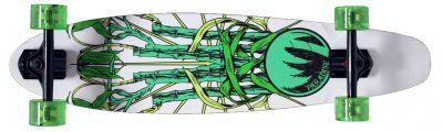 Paradise Rasta Bamboo 3 Pintaill complete PREBUILT Longboard Komplettboard Bambus Skateboard