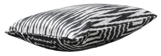 Casa Padrino Luxus Kissen Mod2 Schwarz / Weiß 40 x 40 cm - Wohnzimmer Deko Accessoires - Vorschau 2