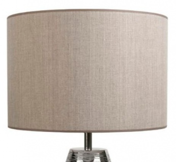 Casa Padrino Luxus Tischleuchte Silber / Taupe Ø 40 x H. 73 cm - Aluminium Tischlampe - Vorschau 2