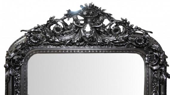 Casa Padrino Barock Wandspiegel Silber Antik-Look Höhe 159 cm, Breite 89 cm - Edel & Prunkvoll - Vorschau 2