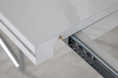 Moderner Yacht Design Esstisch Weiß Hochglanz Ausziehbar 160 - 220 cm von Casa Padrino - Esszimmer Tisch - Vorschau 5