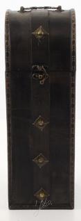Casa Padrino Art Deco Weinkoffer / Weinbox Schwarz 14, 5 x 12, 5 x H. 37 cm - Holzkoffer