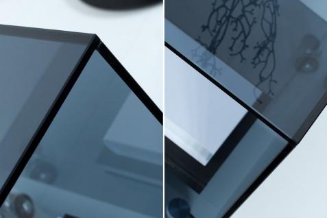 Casa Padrino Wohnzimmer Beistelltisch mit Rollen aus Glas Anthrazit 50 x 50 x H. 45 cm - Designer Möbel - Vorschau 4